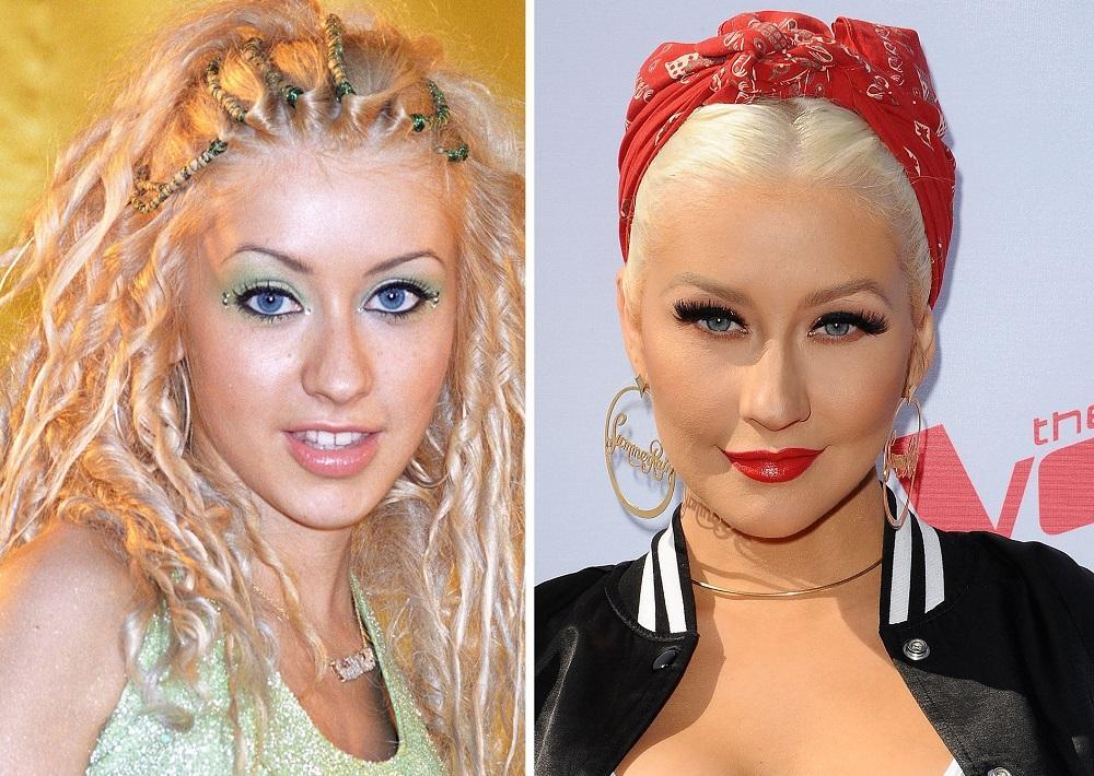 Christina-Aguilera-s-est-fait-refaire-le-nez