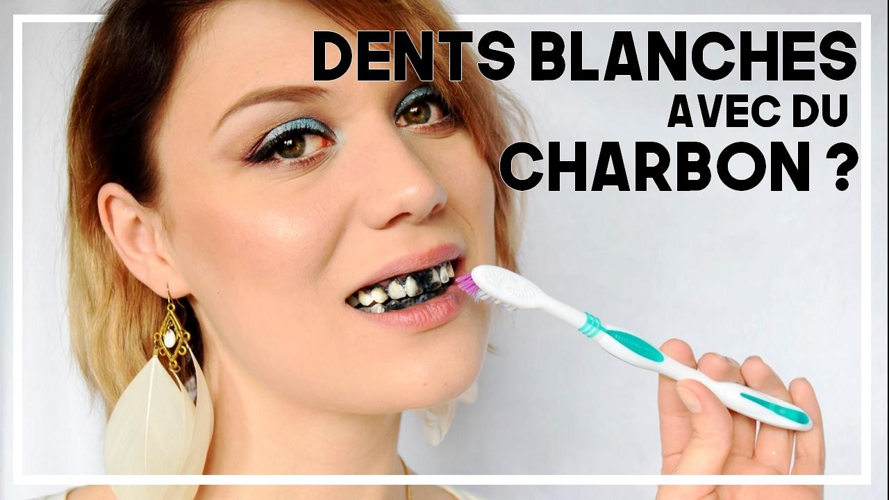 blanchiment dents par la poudre du charbon actif